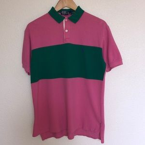Vintage Polo Pink And Green size M